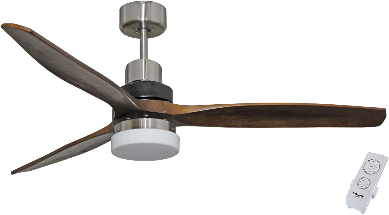 Bastilipo 7869-San San Remo Ventilador de Techo LED con Mando a Distancia, Madera