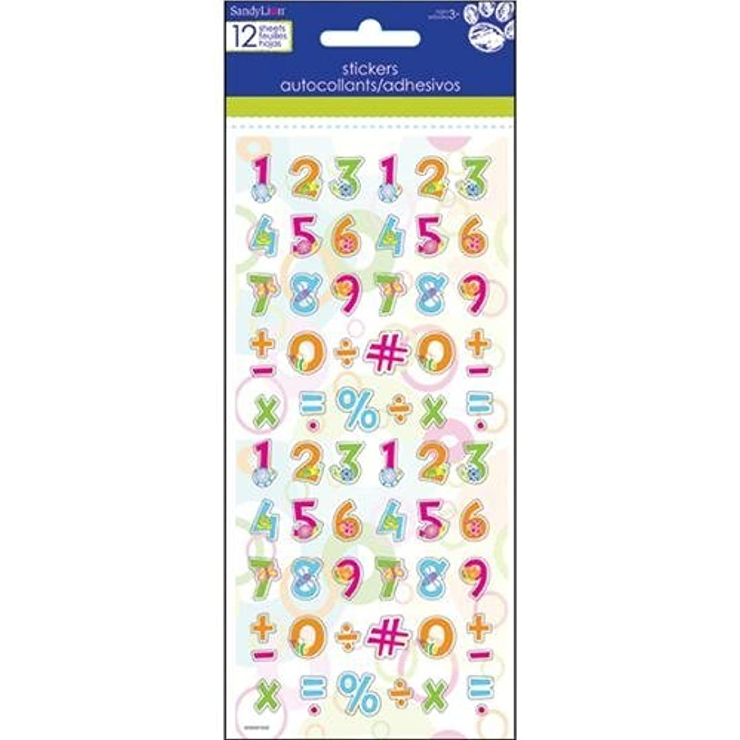 Parrot Sandylion Letters and Numbers Stickers-Cute Creature 1/2