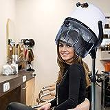 Immagine 1 homcom casco asciugacapelli professionale portatile