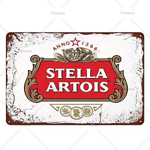 keletop Corona Extra Cerveza Placa Metal Cartel de Chapa Miller Pared Arte Cartel Bar Pub Cafe Club decoración Vintage decoración del hogar 20 * 30 cm