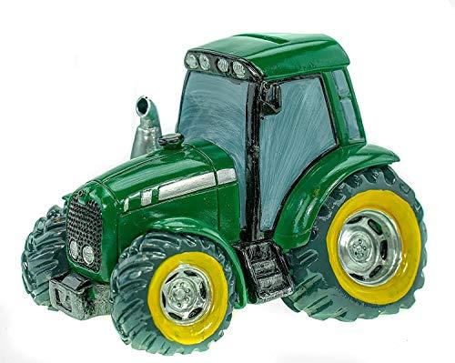 Topshop24you wunderschöne Spardose,Spardose,Sparschwein Traktor mit Pfropfen in grün