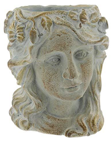 Greek/Roman Style Female Statue Head Cement Planter (Style 2)