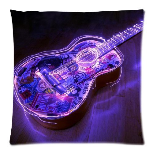 Denise Love Art Guitar body pillow case 18x18inch (Two sides)
