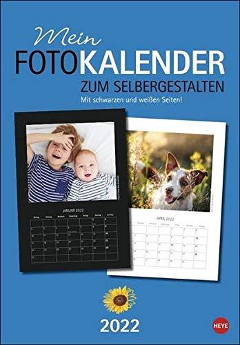 Fotokalender zum Selbergestalten 23x33: Mit schwarzen und weißen Seiten