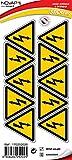 Novap, Pack de 10 pegatinas triangulares de peligro eléctrico (50 mm)