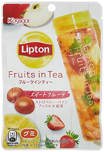春日井製菓 リプトンフルーツインティーグミ スイートフルーツ 44g ×10袋