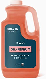 Kelvin Slush Co. - Grapefruit - Organic Frozen Cocktail & Slush Mix - Award-Winning Slush Machine & Blender Mix, Bars, Restaurants, At Home (64 oz bottle) (Grapefruit)
