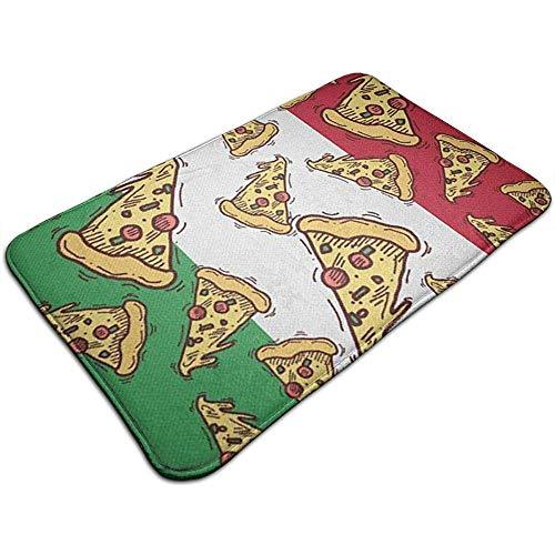 N/A Pizza Slice Italien Flagge Italian Food.jpg MarketPlace Matten Rutschfester Boden Eingangstürmatte Innen/Außen