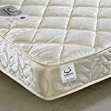 Quilted 800 <span class='highlight'>Pocket</span> Sprung, <span class='highlight'>Happy</span> <span class='highlight'>Beds</span> Eclipse Medium Soft Tension Mattress - 3ft Single (90 x 190 cm)