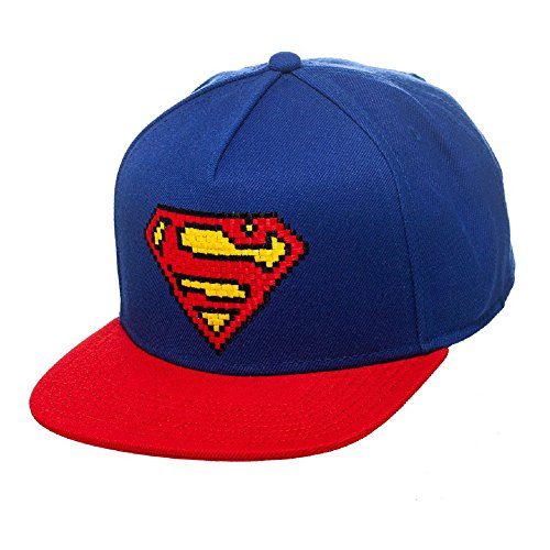 Superman - Casquette Pixel - Original Snapback Cap - Rouge/Bleu