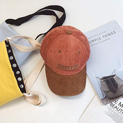 geiqianjiumai Cordbuchsta- baseballmutspersoonlijke baby-hip-hop-cap samengebracht