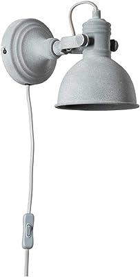 BRILLIANT lampe Katie mur spot alimentation ligne béton gris |1x PAR51, GU10, 50W, adapté aux lampes à réflecteur (non incluses) |Échelle A ++ à E |Tête pivotante