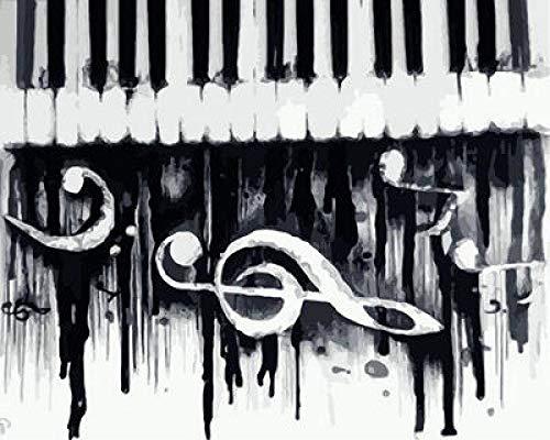 Pintar por Numeros Adultos Niños - Piano de nota musical -...