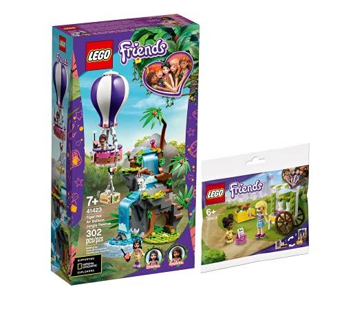 Collectix Lego 41423 Friends Tiger - Juego de salvavidas con globo aerostático y carrito para flores 30413 (bolsa de plástico)