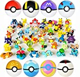 8pok Ball and heroes8pcs Collectible Pokeballs and 24PCS Mini Poke Heroes Action Figures - Pocket Monster Action Figure Toys Set
