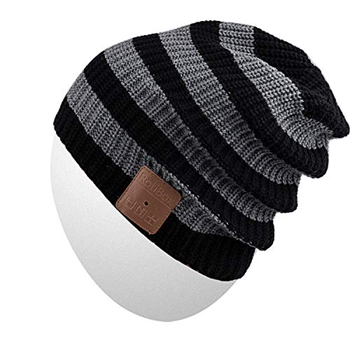 Rotibox Winter Unisex Bluetooth Beanie Hat Music Cap with Wireless Headphones Headsets Earphones...