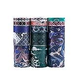 Washi Tapes Set, Lychii 15 rollos Gold Stamping Masking Tapes, cinta decorativa de varios patrones para manualidades, manualidades, planificadores diarios, envoltura de regalos