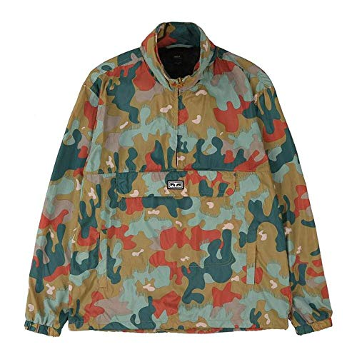 Obey Herren Runaround Eyes Pullover Anorak Jacket Jacke, Drip Camo, Mittel