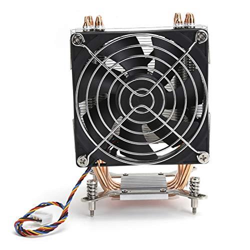 214 Ventilador de refrigeración de CPU, 9 cm, Tubo de Cobre de 4 Calor, Ventilador de refrigeración de disipador de Calor de CPU de computadora, radiador de disipación de PC,Plataforma para LGA2011