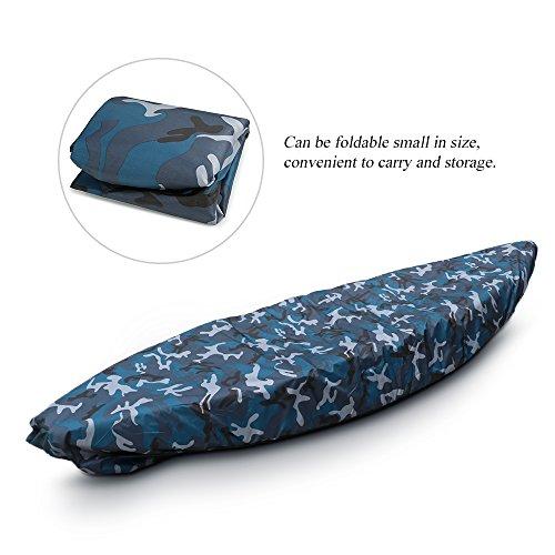 Blusea Kajak-Abdeckung zum Angeln, praktisches Surfbrett-Zubehör Professionelle Universal Camouflage Kajak Kanu Boot Wasserdicht UV-beständig Staubspeicherabdeckung Schild