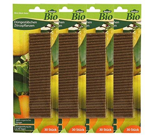 Dehner Bio Düngestäbchen für Zitruspflanzen, 4 x 30 Stück (120 Stück)