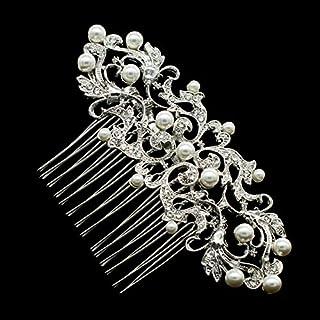 SEP Rhinestone Crystal Wedding Bride Hair Comb Hairpins Jewelry Accessories 2221R [並行輸入品]