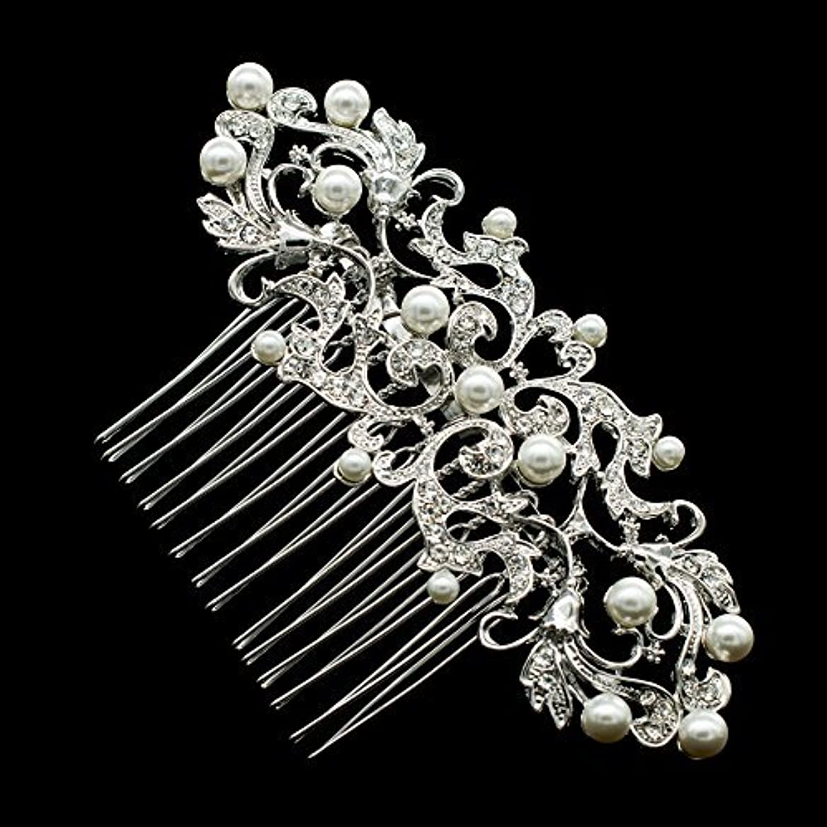 メッシュ現実にはシネウィSEP Rhinestone Crystal Wedding Bride Hair Comb Hairpins Jewelry Accessories 2221R [並行輸入品]