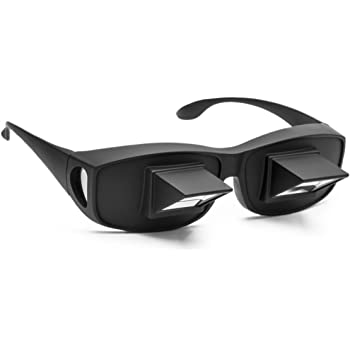 Flammi Lazy Glasses Prism Glasses Horizontal Spectacles Lie Down for Reading/Watching TV