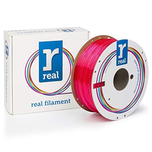 Real Filament 8719128327433 Real PETG, Spule mit 1 kg, 1,75 mm, transparent magenta