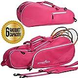 Athletico 6 Schläger-Tennis-Tasche, gepolstert, um Schläger zu schützen und leicht,...