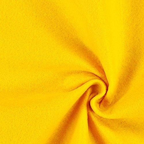 Fabulous Fabrics Filzstoff gelb, 1 mm dick, 90 cm breit – Filz zum Nähen und Basteln von Taschen, Tischdeko, Filzkörbe und Wohnaccessoires - Meterware ab 0,5m