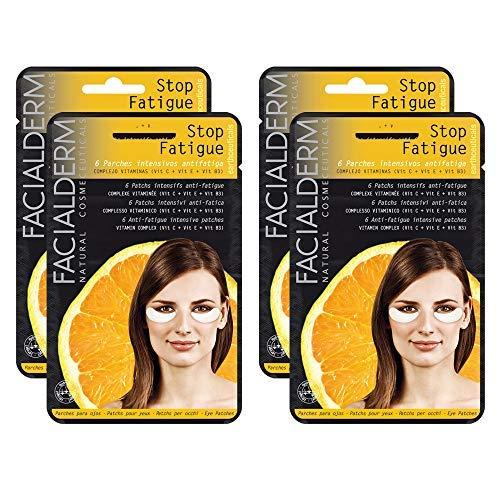 Facialderm - Parches Ojos Antifatiga con Vitamina C, Pack 4 unidades | Parches Antiojeras Fatiga