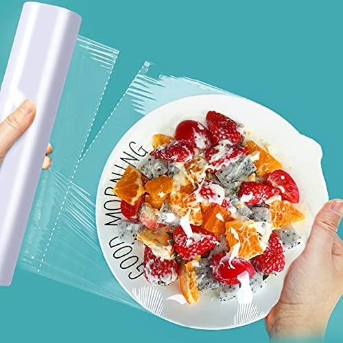 Film Transparente Para Embalar- Papel Film Cocina Alimentos De Plástico Resistencia Al Calor 110 ° C Resistencia Al Frío -40 ° C Mantenga Los Alimentos Frescos Para Las Necesida(Size:About 200 Sheets)