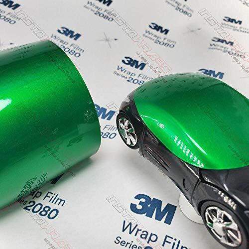 3M 1080 Gloss Green Envy | G336 | Vinyl CAR WRAP Film (Sample 2.5in x 4in)