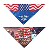 WT-DDJJK Bufanda de Baberos Triangulares de Perro Lavable con Estampado de Letras de Elecciones presidenciales de EE. UU. De 2 Piezas