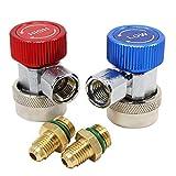 HSeaMall alta bajo AC R134a Ajustable Rápido Acoplador Conector adaptper Auto aire acondicionado accesorios herramientas