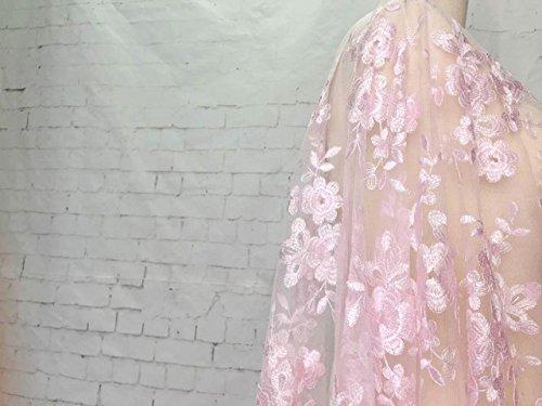 ASTONISH 2018 High-End-Mode-Französisch-Spitze-Gewebe-Qualitäts-afrikanische Tüll gestickte Blume transparentes Netz-Spitze-Gewebe für Hochzeit: PK