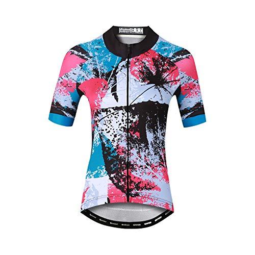 Sunbike Atmungsaktive Kurzarm-Radtrikots für Damen Fahrradbekleidung für Fahrrad, Biker, Fahrrad