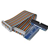 kuman RPi GPIO Breakout Expansion Board + Ribbon Cable for Raspberry Pi 2 Model B & B+ Assembled T Type GPIO Adapter 20cm FC40 40pin Flat Ribbon Cable SC05