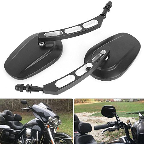 M8 8mm Spiegel motorrad, lenkerendenspiegel motorrad Für Sportster 1200 XL 1200C Dyna Softail 8mm