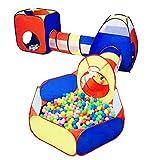 LANHA 5 in 1 Kids Ball Pit Tende e Tunnel, Playhouse Giocattolo Pop-up Tunnel per Gattonare, per Ragazzi Neonati Neonati Bambini, Regalo per Interni all'aperto, Gioco Target con 10 Palline