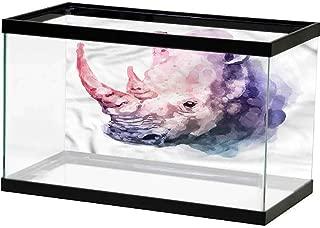 Undersea World Watercolor,Abstract Watermelon Underwater Backdrop Image Decor