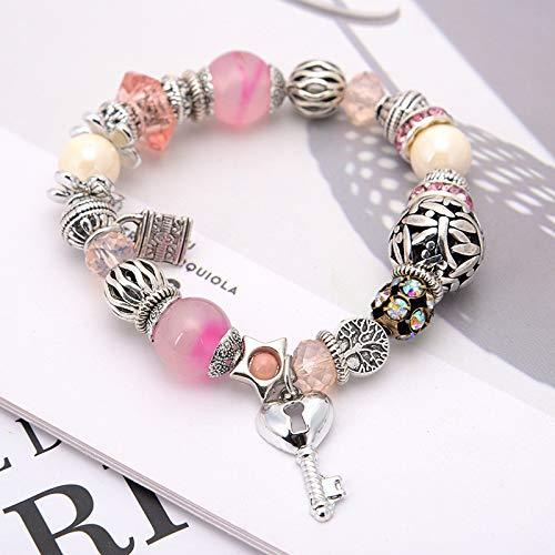 Böhmische Muschelstück Kristall Perlen Mode Damen Handgemachtes Armband 310-Pulver
