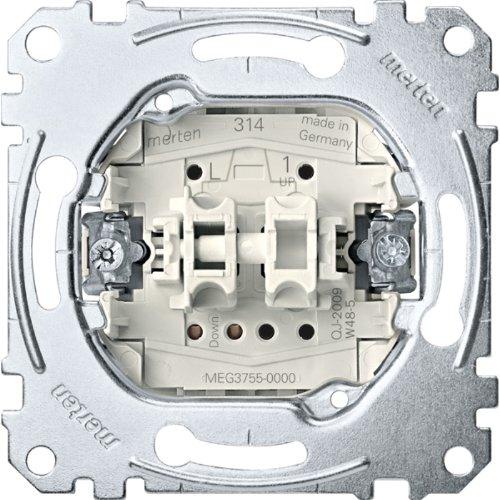 Merten MEG3755-0000 1polig 10A AC250V Rollladentastereinsatz, 250 V