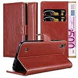Cadorabo Hülle für LG X Power in Wein ROT – Handyhülle mit Magnetverschluss, Standfunktion & Kartenfach – Hülle Cover Schutzhülle Etui Tasche Book Klapp Style