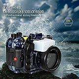 Sea frogs pour Sony a6500 a6400 a6300 a6000 Plongée Sous-Marine Avec caméra 195M / 60M Boîtier étanche (boîtier + filtre Rouge)