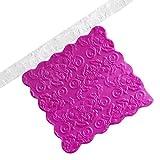 Rodillo de 3 estilos, transparente colorido rodillo de pasta fondant en relieve texturizado estampado molde DIY ligero rodillo de cocina (flor)