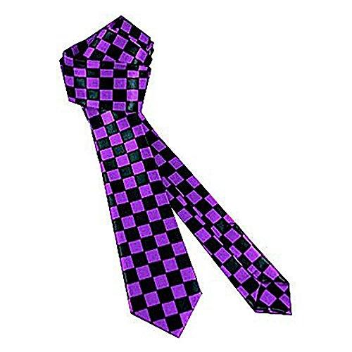 Rock de cravate Checker Purple Black