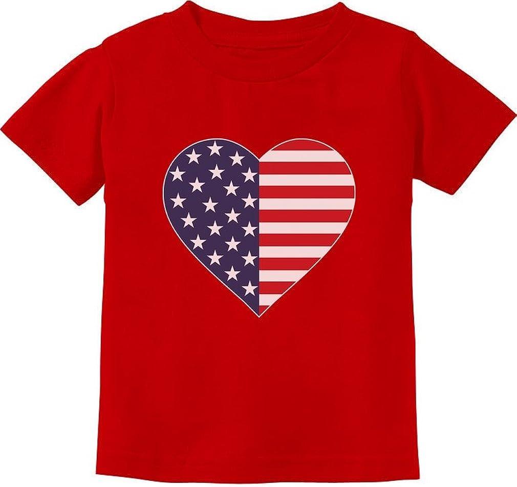 Tstars - American Flag Heart Stars Strips Patriotic USA Toddler Kids T-Shirt