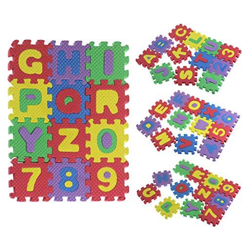 LianMengMVP Bodenmatte 36 Stücke, Puzzlematte, Schaum Spielen Puzzle Matte Spielmatte für Babys und Kinder, Kindermatte, Puzzleteppich, Lernteppich, Steckmatte aus Eva (Verschiedene Größen)